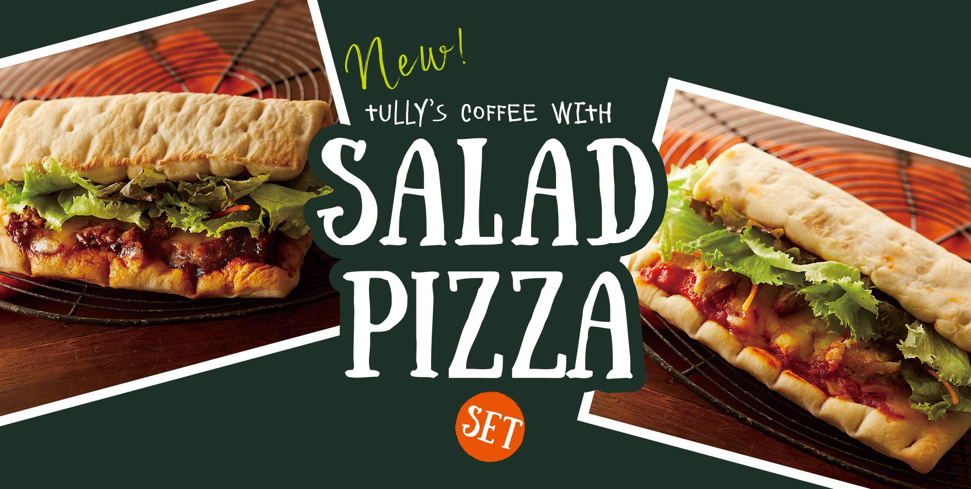 COFFEE WITH SALAD PIZZA SET